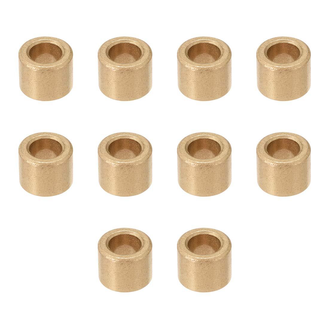 Sourcingmap 6 * 10 * 8 Rodamiento autolubricante Casquillos de rodamiento de bronce sinterizado 6 mm, 8 mm 10Qty