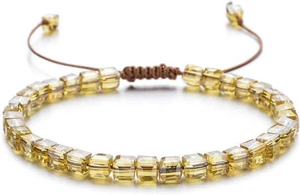 Women Silver Crystal Bracelet Adjustable Wave Chain Bangle Stretch Bracelet for Women Purple