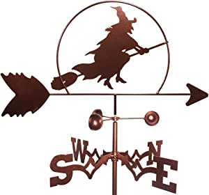 Witch Weathervane with Roof Mounting