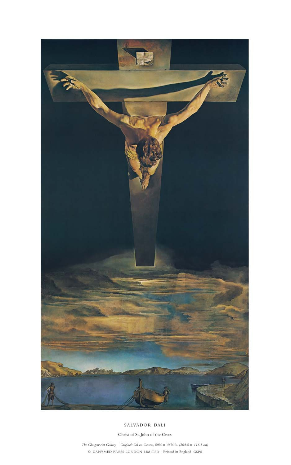 Christ of St. John of the Cross, Salvador Dali (255gsm Satin art paper, Image Size: 356mm x 190mm (14