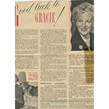 Gracie Fields original clipping magazine photo 1pg 8x10 #R2671