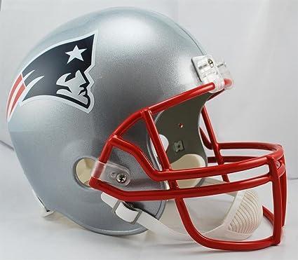 898c94aad1767 New England Patriots Deluxe Casco De Fútbol réplica Full tamaño – -(Nueva  Versión)