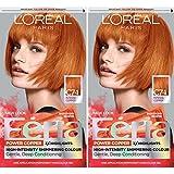 L'Oréal Paris Feria Multi-Faceted Shimmering Permanent Hair Color, C74 Intense Copper, 2 COUNT Hair Dye