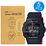 [5-Pcs] for Casio DW-5600 /DW5600 Watch Screen Protector, Full Coverage Screen Protector for DW-5600Watch HD Clear Anti-Bubble and Anti-Scratch