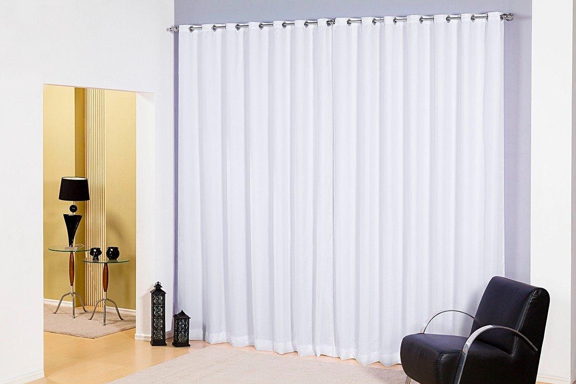 Cortina De Var O Voil Branco Sala Quarto 4 00×2 80 Com Forro Amazon