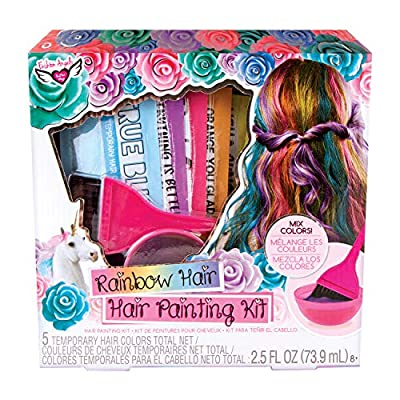 Fashion Angels Rainbow Hair Painting Kit, Temporary Hair Color: Toys & Games