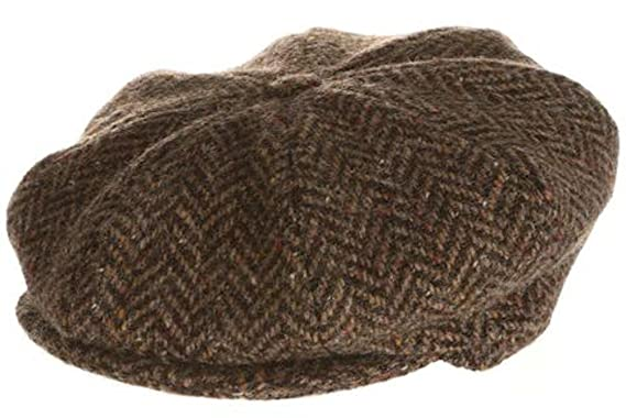 11f316f36f4 Hanna Hats Men s Donegal Tweed 8 Piece Cap Newsboy Cap at Amazon ...