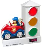 Stoplight Sleep Enhancing Alarm Clock for Kids, Red and Blue Sports Car