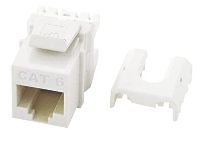 Legrand-On-Q WP3476WH Cat6 RJ45 Quick Connect Keystone Insert with on