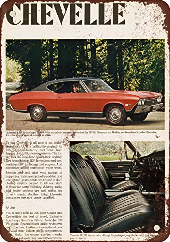 9 x 12 METAL SIGN - 1968 Chevrolet Chevelle SS 396 Sport Coupe - Vintage Look Reproduction