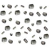 Grub Screws Metric Thread (Mixed 40 PACK) A2 Stainless Steel 10 X M3,M4,M5 & M6 x 5mm Socket Cup Point Allen Key Grub Screw