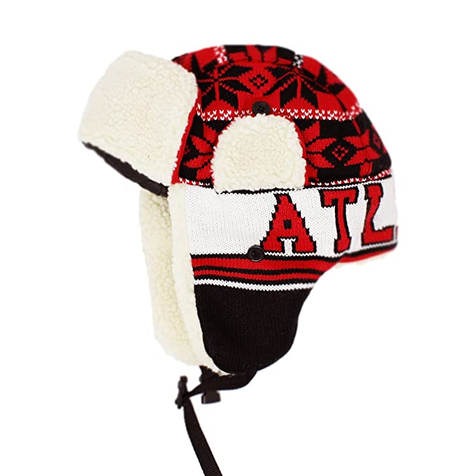 f9e3f54c08f ChoKoLids Football Team City Name Knitted Trapper Winter Hat - 23 Cities  (Atlanta)