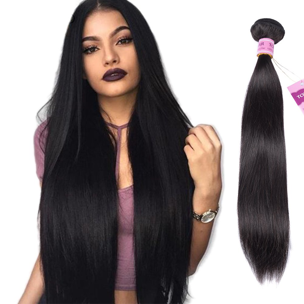 Amazon 7a Virgin Peruvian Straight Hair One Bundle Deals 100