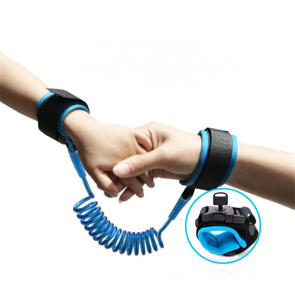 Anti-Lost Wrist Flexible Child Walking Strap Adjustable Child Safety Strap Anti Lost Wrist Walking Hand Belt Walking Strap Lost Wrist Link Restraint Wristband Security (2.5m, Blue) Sotoboo