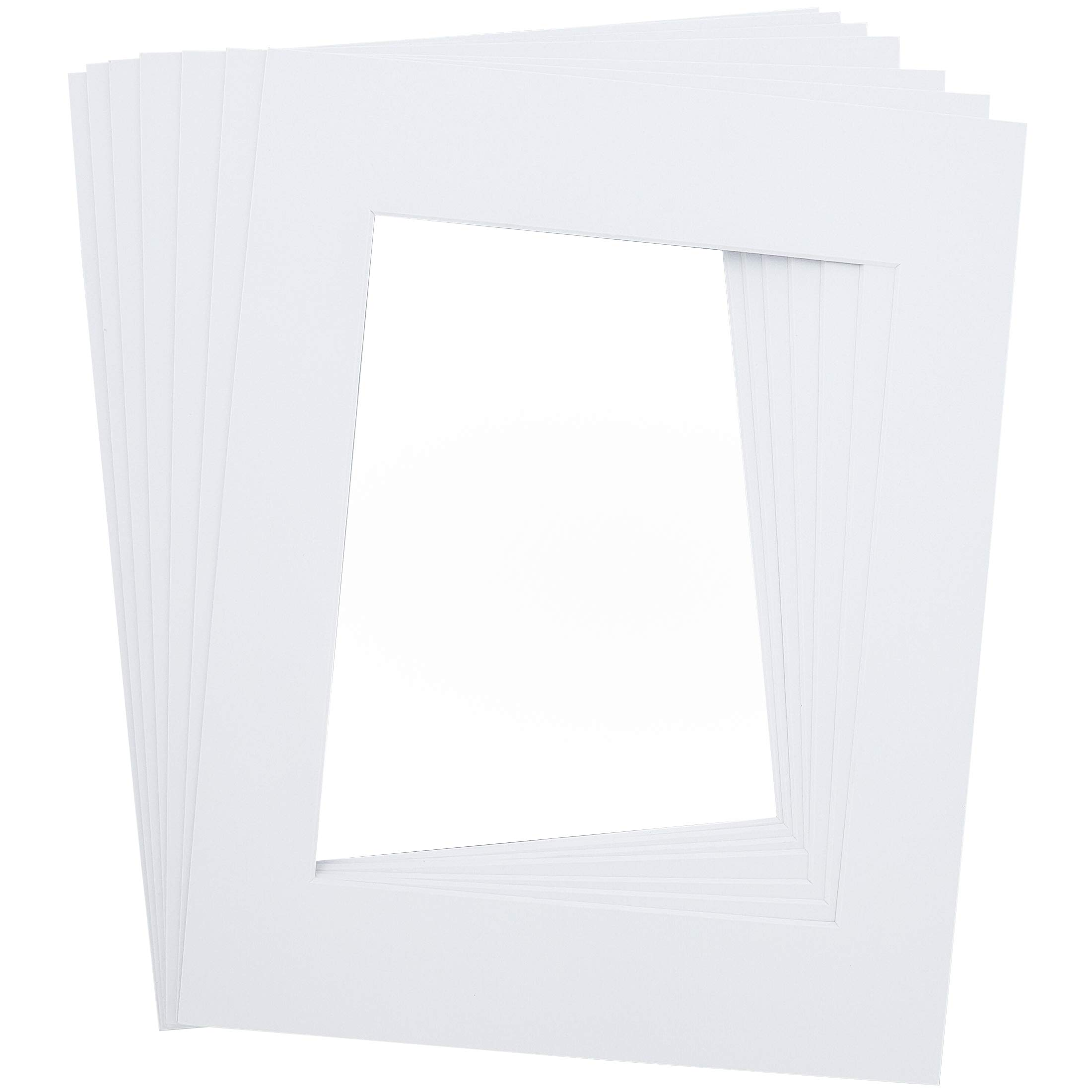 Bright Creations 15-Pack White 11 x 14 Inch Picture Matted Frame Boards for 8x10 Photos, Acid Free by Bright Creations