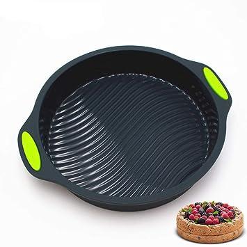 Queta De silicona molde de la torta molde para hornear antiadherente primavera del molde bandeja de