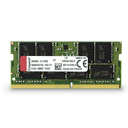 Kingston ValueRAM 16GB 2400Mhz DDR4 Non-ECC CL17 SODIMM 2Rx8 (KVR24S17D8/16) Memory at amazon