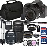 Canon EOS Rebel SL2 Digital SLR Camera + 18-55mm STM + Canon 75-300mm III Lens + SD Card Reader + 64GB Memory + Remote + Accessory Bundle - International Version