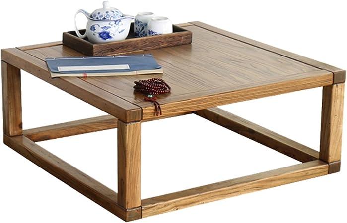 Tavolo Vecchio Tavolo da caff/è in Olmo Tatami Tavolo Basso da Finestra in Legno Massiccio tavolino in Stile Cinese Tavolo da t/è Guoxue Tavoli e tavolini Color : Brown, Size : 70 * 45 * 40cm