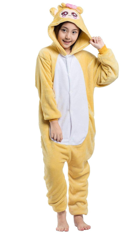 Niños Pijama Kigurumi Animal Cosplay Disfraces Animados Mono Ropa de Dormir para Unisex Altura Entre 9, 0 y 1, 48 m: Amazon.es: Ropa y accesorios