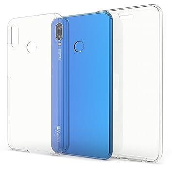 kwmobile Funda para Huawei P20 Lite - Carcasa Completa [360] de [Silicona] para móvil - Cover Doble [Transparente]
