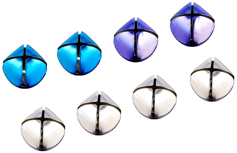 8 Bells 35mm Jingle Bells Silver//Purple//Blue