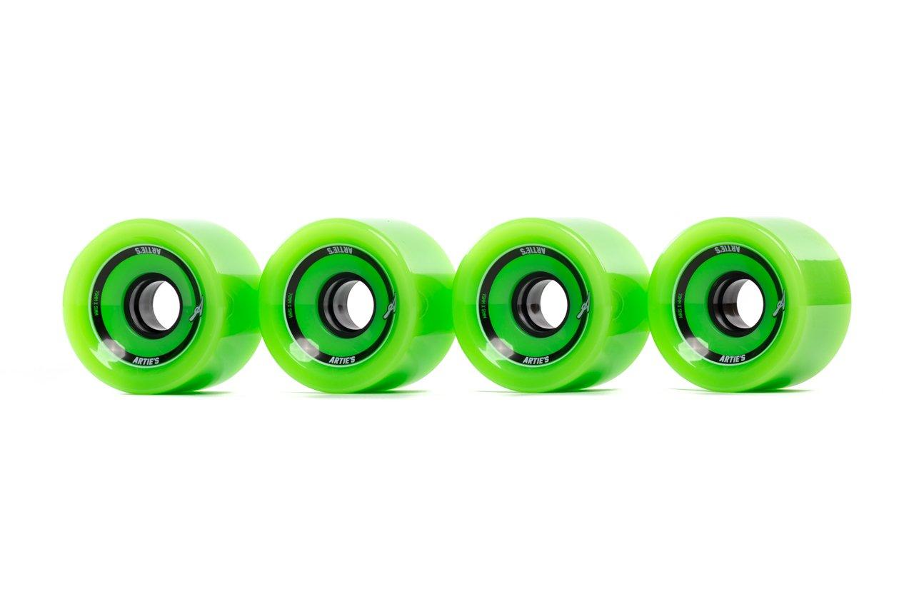 Artieのスケートボード/ Longboardホイールセット – 70 mm ( 4 -パック)  グリーン B01LPJCNV8