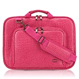CaseCrown Alligator Messenger Laptop Case with Memory Foam for 13 Inch MacBook Pro/Air (Hot Pink)