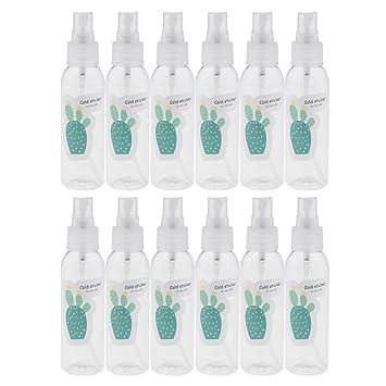 Homyl 12 unds Botellas de vidrio Rellenables para Guardar Aceite Maquillaje Salón de Belleza - 3