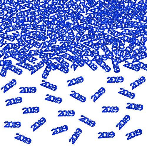 2019 Blue Confetti - Pack of 1000, 2.6 Oz - 2019 Graduation Party Supplies, 2019 Graduation Decorations, Party Decorations for Birthday, Weddings ()