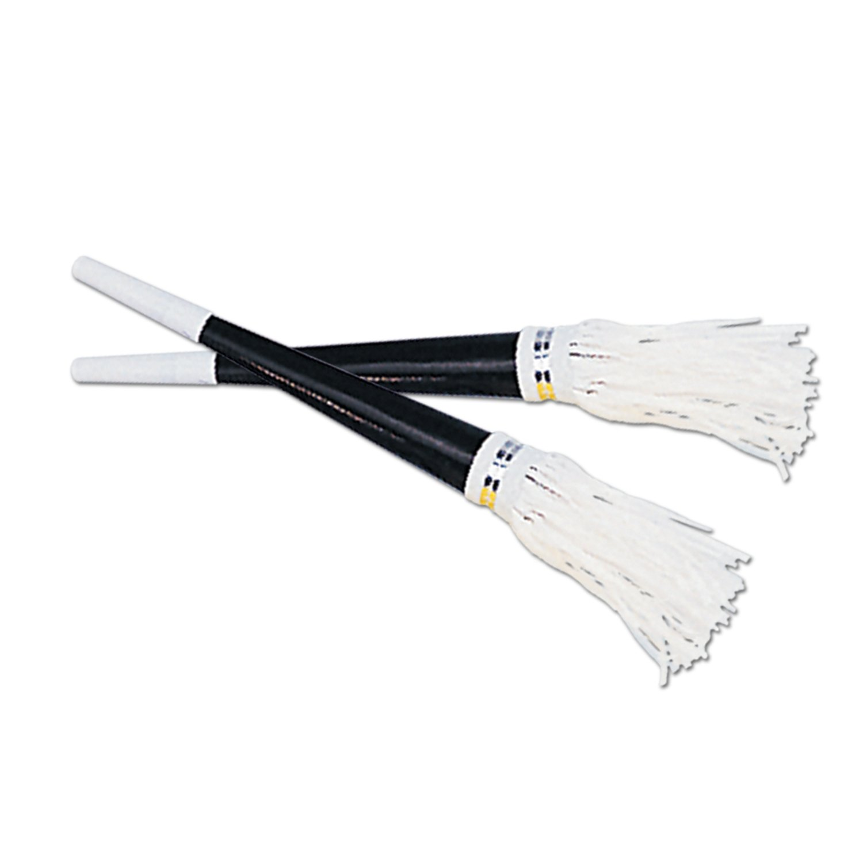 Beistle 88646–100 schwarz Folie Hörner mit Weiß Quaste Partyzubehör, 9 Zoll, 100 Hörner Pro Paket