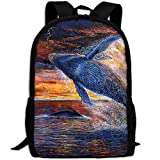 YIXKC Adult Backpack School Bag Animals In Africa Outdoor Casual Multipurpose Fantasy Laptop Travel Bags