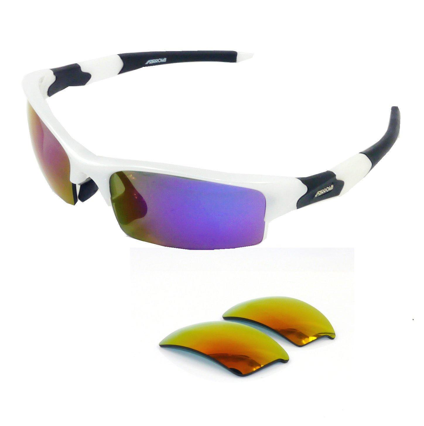 9cb9e717e1c FARROVA - AX5062Extreme Series Polarized Sunglasses Cycling Grilamid TR90 Frame  Sports Sunglasses for Men   Women with Interchangeable Iridium Lenses for  ...