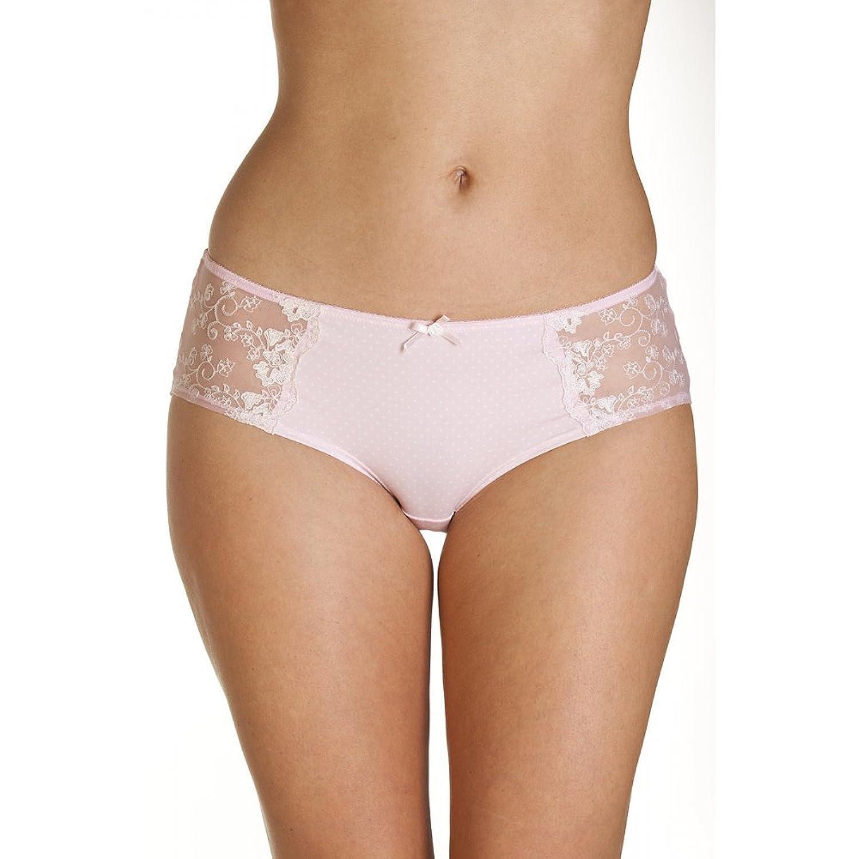 Camille Womens Ladies Underwear Pin Dot Pink Boxer Shorts Briefs Size 4-14