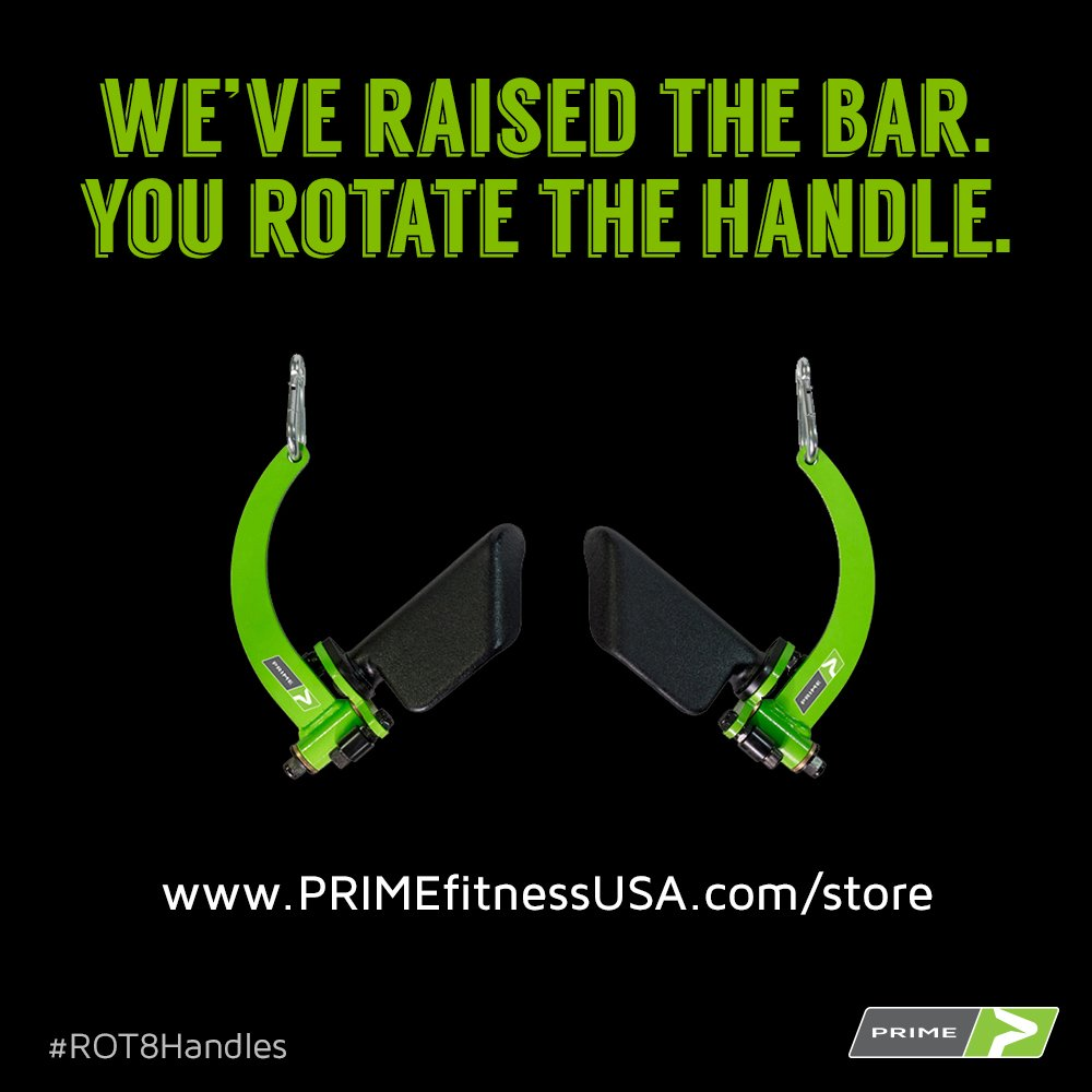 PRIME RO-T8 Handles (PRIME Green) by PRIME Fitness (Image #3)