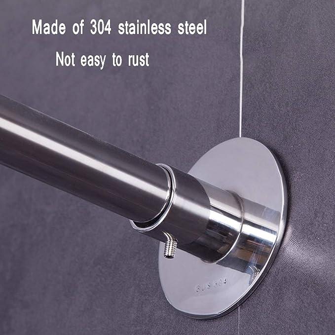 Tenda a Forma di U in Acciaio Inox per Binario a Forma di U per Il Bagno Curtain Rod DCAH Asta per Tenda da Doccia Colore : 80X80X80CM