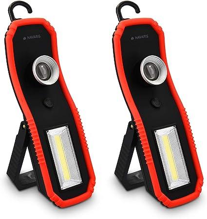 Navaris 2X Lámpara LED portátil de inspección - Linterna con ...