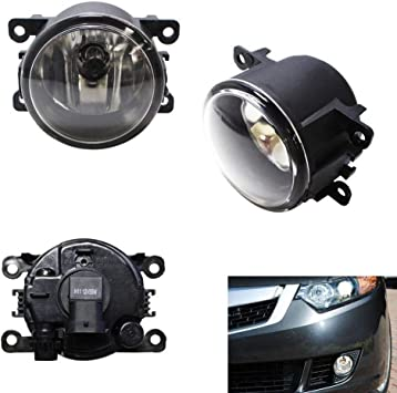 For 2010-2015 Acura RDX LED Fog Lights Front Driving Lamps w//Wiring Kit Clear