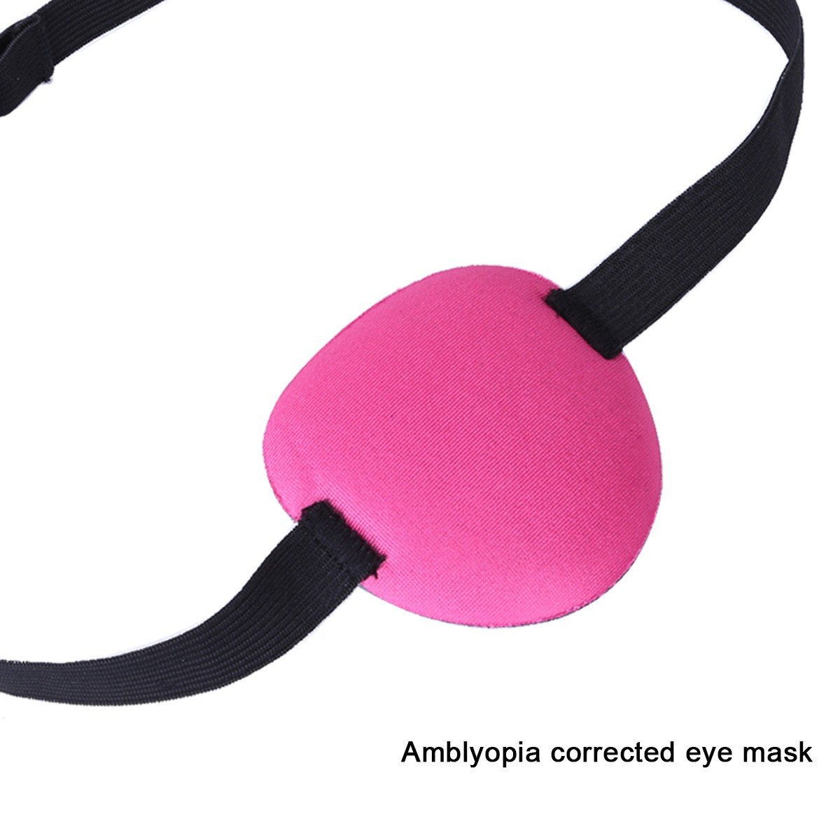 FEESHOW Medical Use Concave Eye Patch 3D Foam Groove Eyeshades For Lazy Eye Rose One Size
