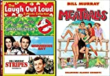Stripes + Meatballs / Groundhog Day / Ghostbusters Movie Feature DVD Bill Murray 4 Comedy Set Bundle