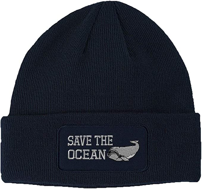 Baby beanie hat with  whale design
