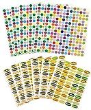 (12 Sheet Set) Essential Oil Bottle & Lid Labels; 1,608 Total Water & Oil ...