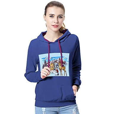 Sudaderas Invierno para Mujer, Btruely Sudaderas Hoodies Mujer otoño Invierno impresión Navidad Manga Larga Camiseta con Capucha Sudadera Blusa: Amazon.es: ...