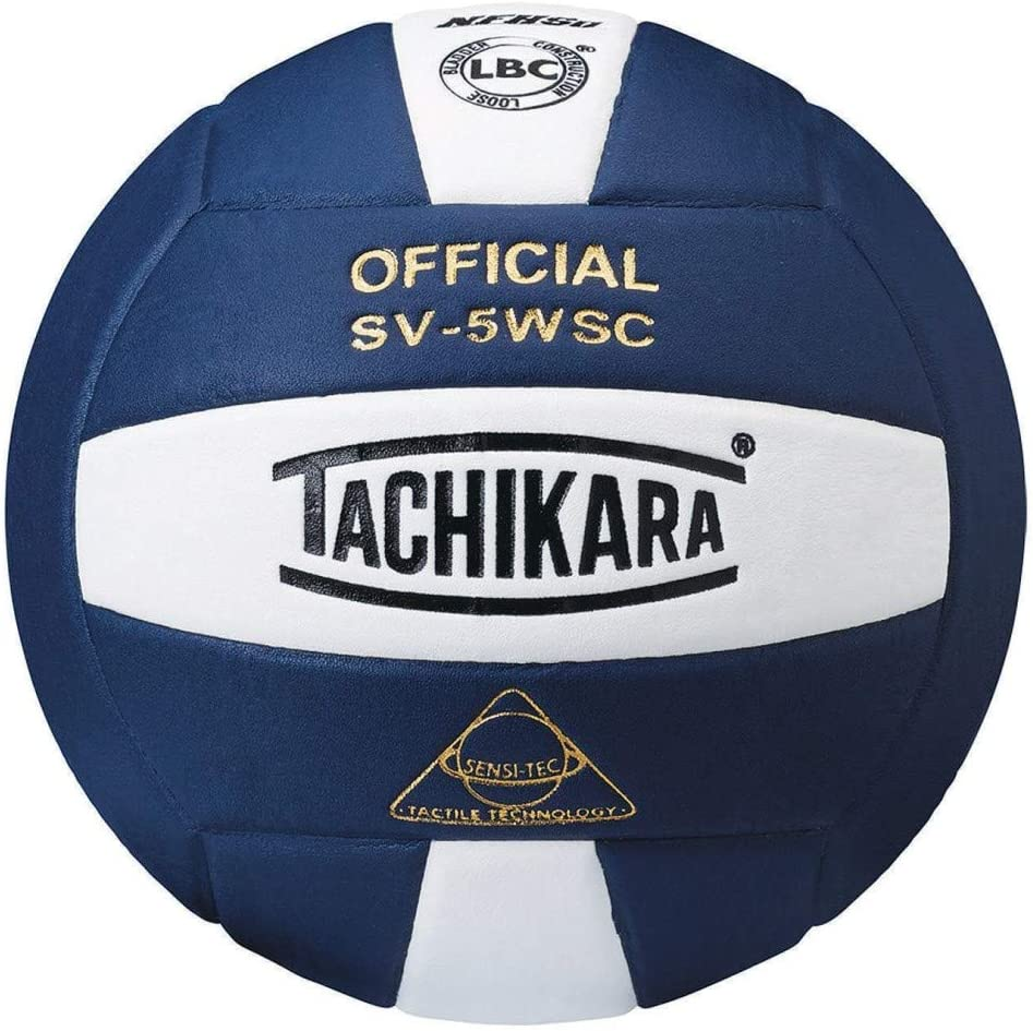 Amazon Com Tachikara Leather Indoor Volleyball Navy Home Kitchen