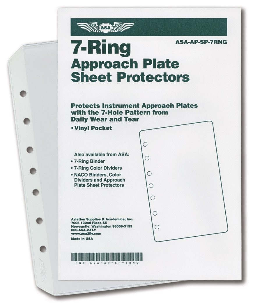 ASA 7-Ring Approach Plate Sheet Protectors asa-ap-sp-7rng