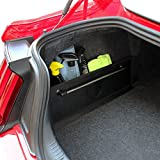 RED SHIELD Auto Trunk Organizer with Towel Rack for Car, SUV, or Minivan – 22.4 x 7.08 inches [Black]