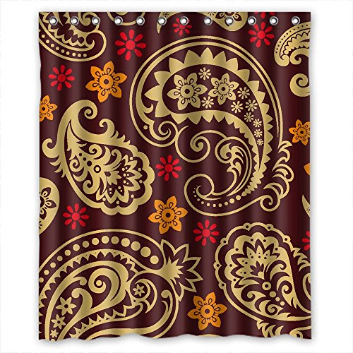 Eyeselect The Paisley Bathroom Curtains Of Polyester Width X Height / 72 X 72 Inches / W H 180 By 180 Cm Decoration Gift For Husband Family Her Hotel Boys. - Woolworths Gifts Her For
