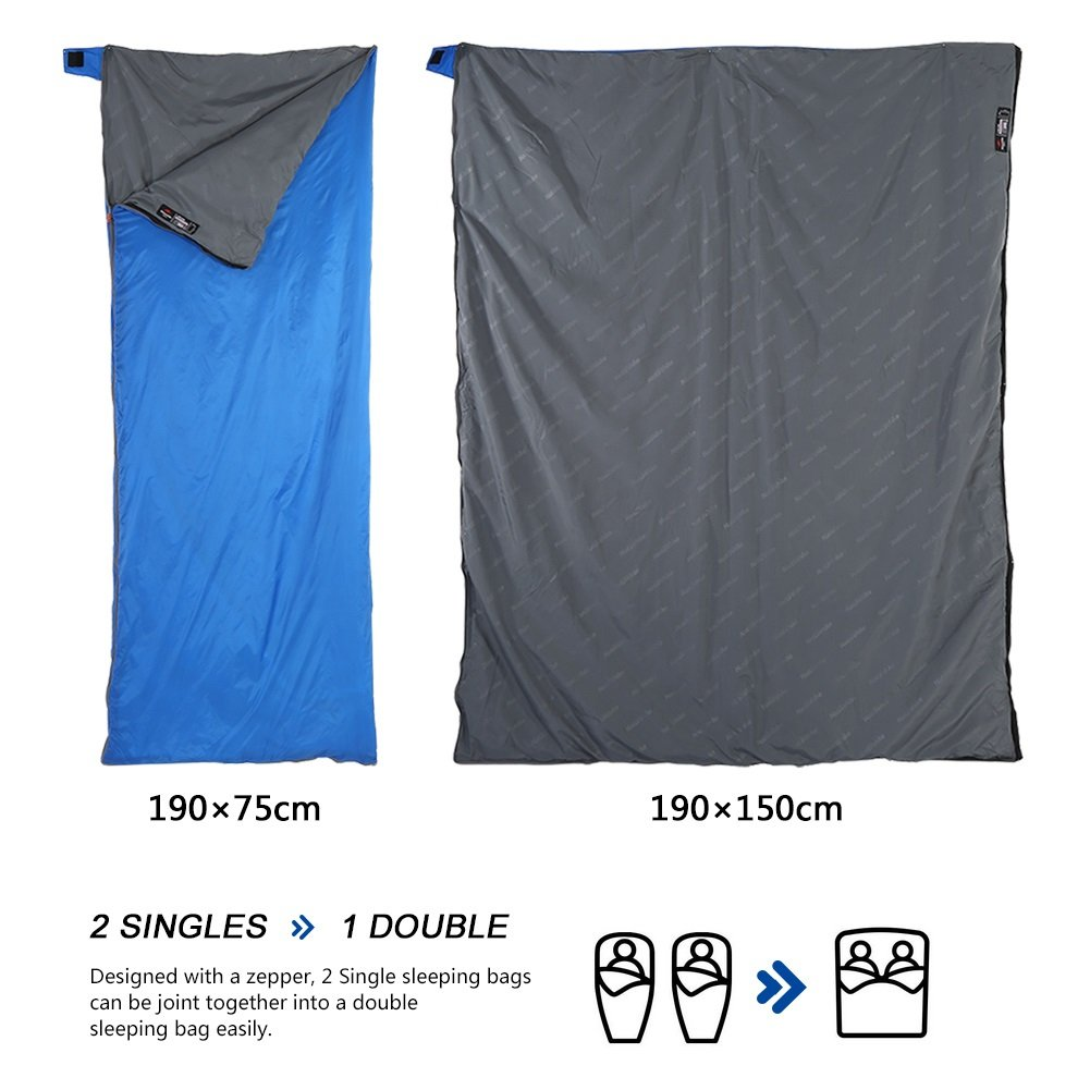 190*75cm Ultralight Waterproof Envelope Sleeping Bag For Travel Outdoor Camping Hiking Trekking ( Color : Dark Blue ) VGEBY