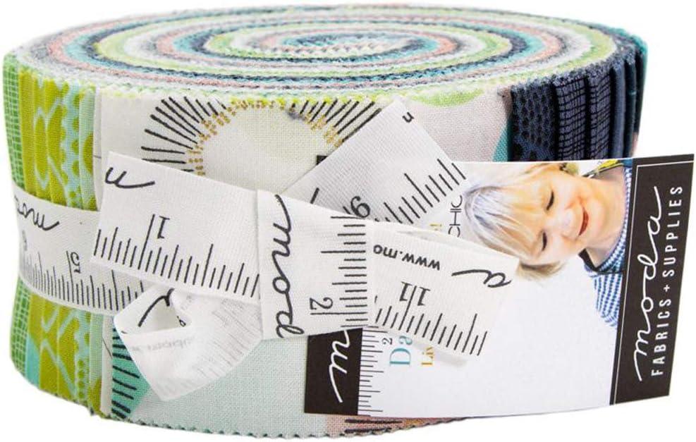 Zen Chic Day in Paris Jelly Roll 40 2.5-inch Strips Moda Fabrics 1680JR