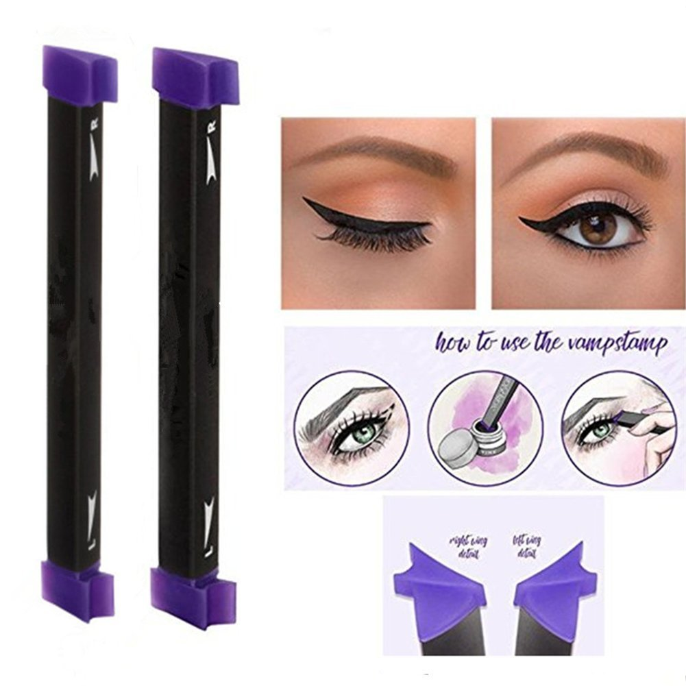 Ladygo Vamp Stamp Eyeliner Easy To Makeup Eye Wing Liners 3 In 1 Liquid Drawing Eyeliners Stamps 1 Second Make Up Tool Size Medium